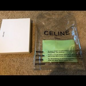 Celine 2018 Clear Plastic Shopping Bag w/ Pouch